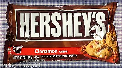 1 Bag Hershey's CINNAMON CHIPS Baking Chips Candy 10 oz Bag