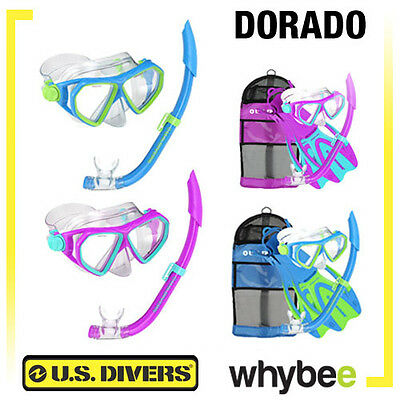 US DIVERS DORADO CHILDRENS KIDS AGE 6+ SNORKEL SET SNORKELING COMBO! 2 or 3 Pc
