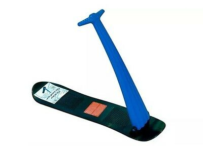 Folding Snow Ski Scooter / Snowboard Blue Free Stickers Plus Free Delivery