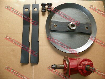 6' Rotary Cutter Kit Includes Gear Box, HD Blade Pan, Blades, and Blade Bolts