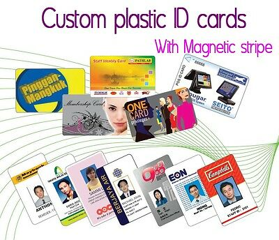 Custom Made ID Cards with Magnetic Hi-Co stripe - Printing on Plastic PVC