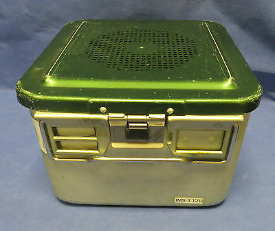 """XTRA DEEP 1/2 SIZE AESCULAP STERILIZATION CASE CONTAINER  10-3/4 x 10-3/4 x8"""""""