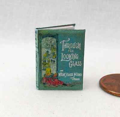 THROUGH THE LOOKING GLASS Miniature Book Dollhouse 1:12 Scale Illustrated Book