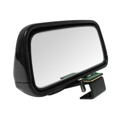 Black Rectangle Adjustable Car Vehicle Wide Angle Rear View Blind Spot Mirror