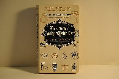 The Complete Antiques Price List, Ralph & Terry Kovel, Revised 3rd Ed. Copy 1971