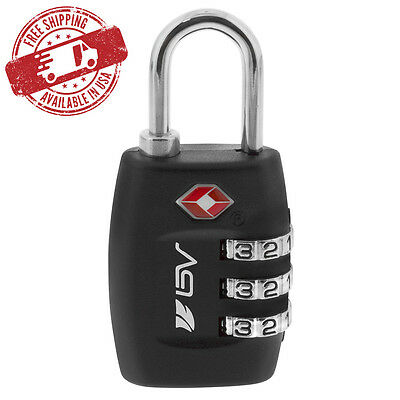 BV TSA Lock Travel Luggage Suitcase 3 Digit Combination Resettable Code NEW TL01