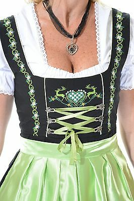 "3pcs Authentic Oktoberfest Dirndl Dress German Female Tracht Green ""Louisa"""