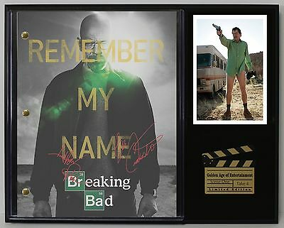 Breaking Bad - Reprinted Autograph Hollywood Script Display - Free USA Shipping