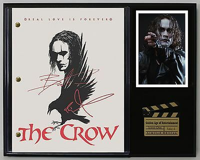 The Crow - Reprinted Autograph Hollywood Script Display - Free Shipping in USA