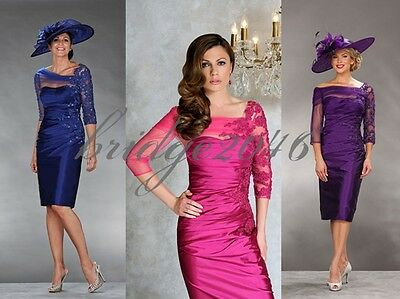 New Asymmetrical Mother of the Bride Dress Prom Gown Evening Dresses Knee length