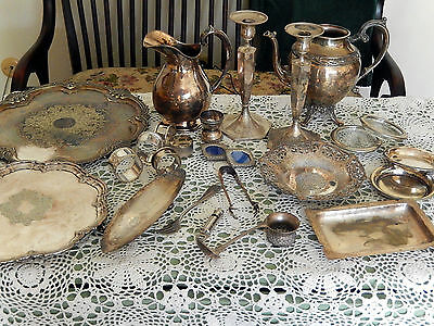 Vintage Silver Plated Hallmarked Misc. Items
