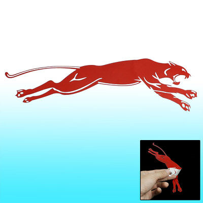 Leopard Print Self Adhesive Vehicles Car Window Laptop Sticker Decal Red