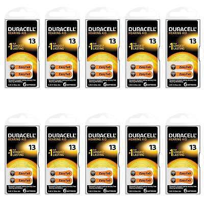 Hearing Aid Batteries Size 13 Duracell Activair Air Easy Battery Tab UK 30 / 60