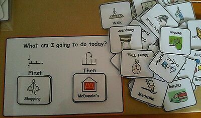 First/Then Sequencing Board Home Pack Visual Aid for Autism/ADHD/ADD/SEN