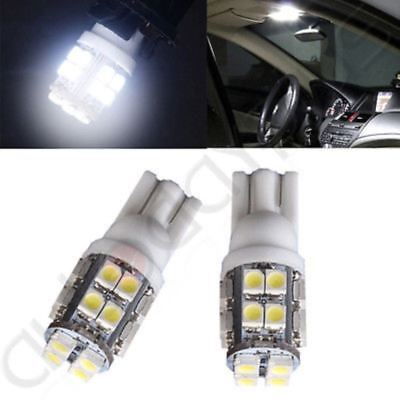 2x White T10 W5W 194 168 6SMD LED Car License Plate Light Auto Side Wedge Bulbs