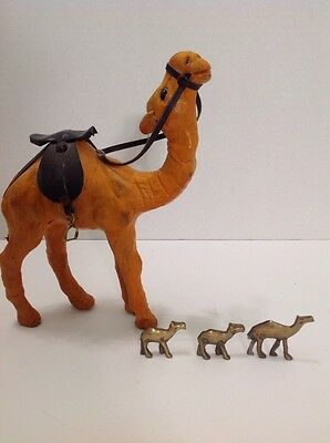 Lot Of Camels From Egypt Hand Made Camel And Mini Brass Authentic Decor Arabia