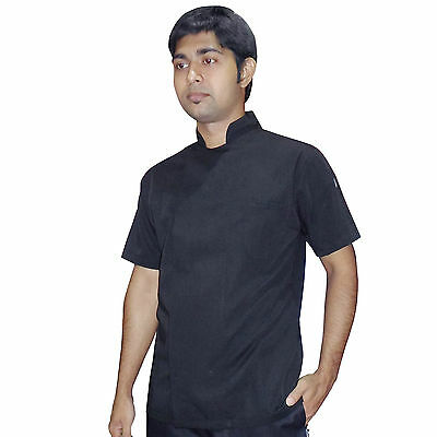 Kitchen cloths  Chef Jacket  shirt Black Chefs Wear catering dress Short Sleeve