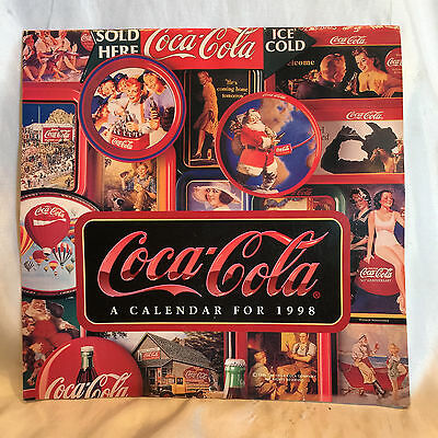 Pre-owned and Used Vintage Coca Cola 1998 Calendar Beautiful Nostalgic Pictures