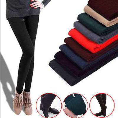 Sexy Women Lady OPAQUE PANTYHOSE Stockings Tights Christmas Winter 15 Colors