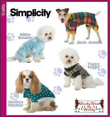 NEW | Simplicity Woofy Wear by Wendy | Crafts Sewing Pattern 3939 Dog Clothes