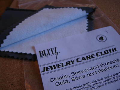 Jewellery Cleaning Double Cloth Non Toxic Polish Gold Silver Platinum 15 x 20 cm