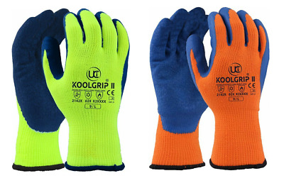 UCi KOOLgrip™ Thermo-Star - Latex Palm Coated Thermal Cold Winter Grip Gloves
