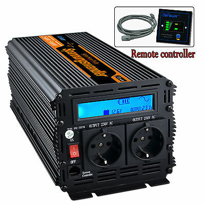 Power Inverter 2500W 12V to 220V  Pure sine wave Converter Max 5000W LCD Display
