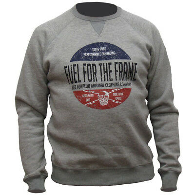 Red Torpedo Fuel For The Frame Sweatshirt Casual Wear - Grey