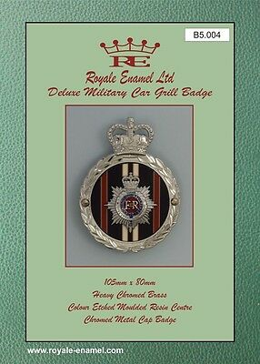 Royale Heavy Chromed Brass Car Grill Badge - ROYAL CORPS OF TRANSPORT -  B5.004