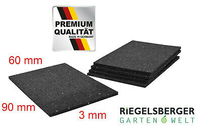 25 Stk. Pads 3x60x90mm Terrassen-Pad Terrassenpads Gummigranulat MADE IN GERMANY