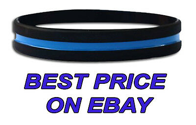 Thin Blue Line Police Wristband (Individually Wrapped)