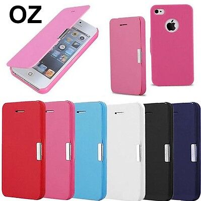 Ultra Slim Magnetic Flip Leather Case Cover for Apple iPhone SE & 5 &5s