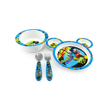 Mickey Mouse-Plate, Bowl Set-Microwavable