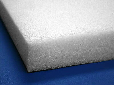"6 Sheets - 12"" x 12"" x 2"" White PE Closed Cell Foam Plank, 2.2# Density"