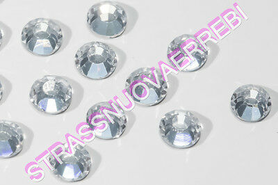1000  Strass  Termoadesivi Qualita' Superiore  4  Mm  Color  Crystal Trasparente