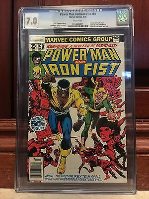 Power Man And Iron Fist #50 Cgc 7.0 Fn/vf Iron Fist Joins Luke Cage (Id 6312)