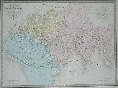 1861 Large Original Andriveau Goujon Antique Map Of The Ancient World