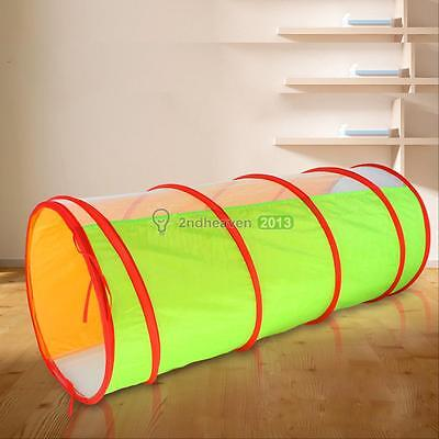 Outdoor Indoor Game Toy Pop Up Play Tunnel Child Toddlers Kids Pets Exploration