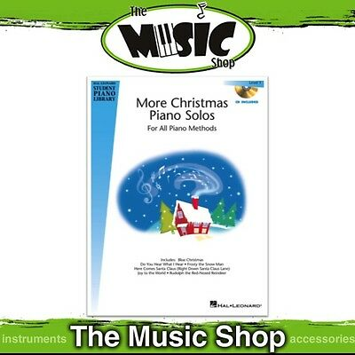 New HLSPL More Christmas Piano Solos Level 1 Music Book & CD