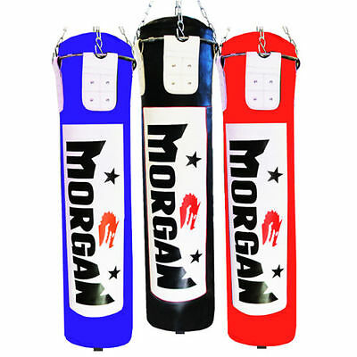 Morgan 6Ft Boxing Punch Bag Red Black Blue (Unfilled) Mma Gym