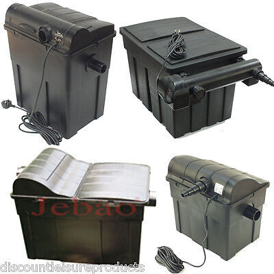 Jebao UBF Koi Fish Pond Filter Black Box UV Filtration System