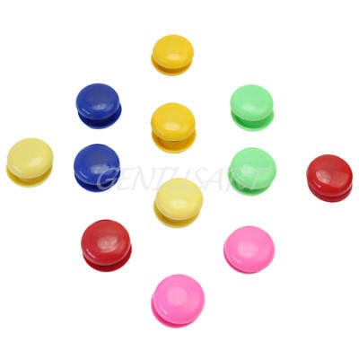 24 Pcs Presentation Whiteboard Colors Round Magnetic Button