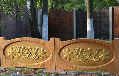 Old Wood Board Flowers  Molds Plastic Mold Edge Stone Concrete Fence #br06