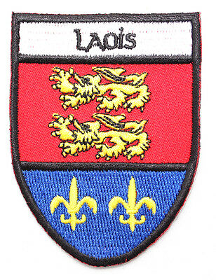 Irish Laois Crest Shield Embroidered Iron / Sew-on Cloth Badge Patch Appliqué