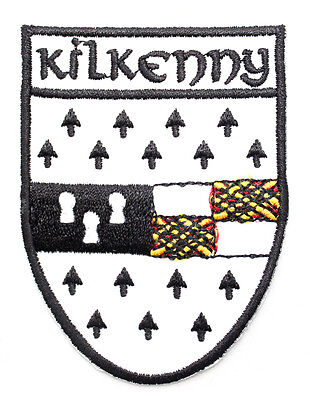 Irish Kilkenny Crest Shield Embroidered Iron / Sew-on Cloth Badge Patch Appliqué