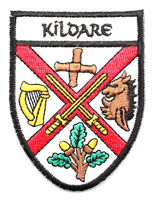 Irish Kildare Crest Shield Embroidered Iron / Sew-on Cloth Badge Patch Appliqué