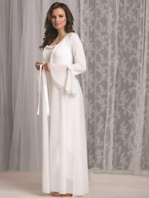 Vanilla Night and Day Long Robe in Luxury Modal in Ivory (2560)