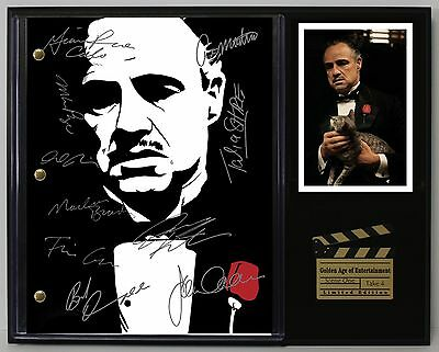 The Godfather - Reprinted Autographed Hollywood Script Display - USA Ships Free
