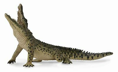 NILE CROCODILE 2015 CollectA Wildlife figure Leaping Movable Jaw NEW 88725
