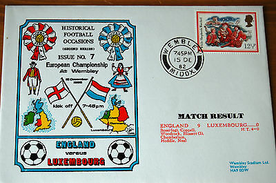 England v Luxembourg 1982 European Championship Historical Football Cover